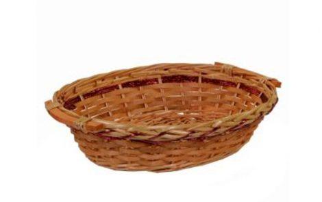 cesta vimini miele e rosso ovale Rosati Carta