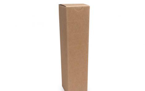 Porta bottiglie avana zigrinato singolo scomparto da 250 ml Rosati Carta