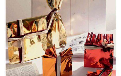 Buste Metal Regalo Natale Rosati Carta