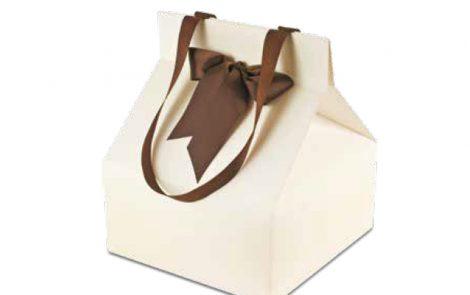 Scatole a borsa boite gourmet avorio Rosati Carta