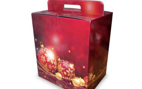 Scatole regalo di Natale Decori Rosati Carta