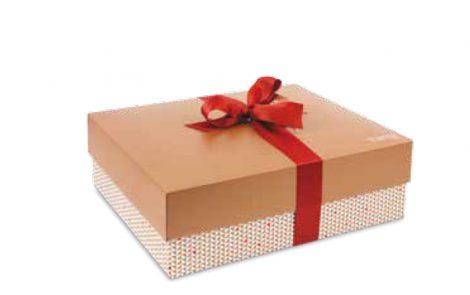 Scatole regalo rettangolari basse con fiocco Rosati Carta