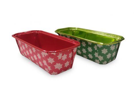 Forme per plumcake xmass Natale rosso e verde Rosati Carta
