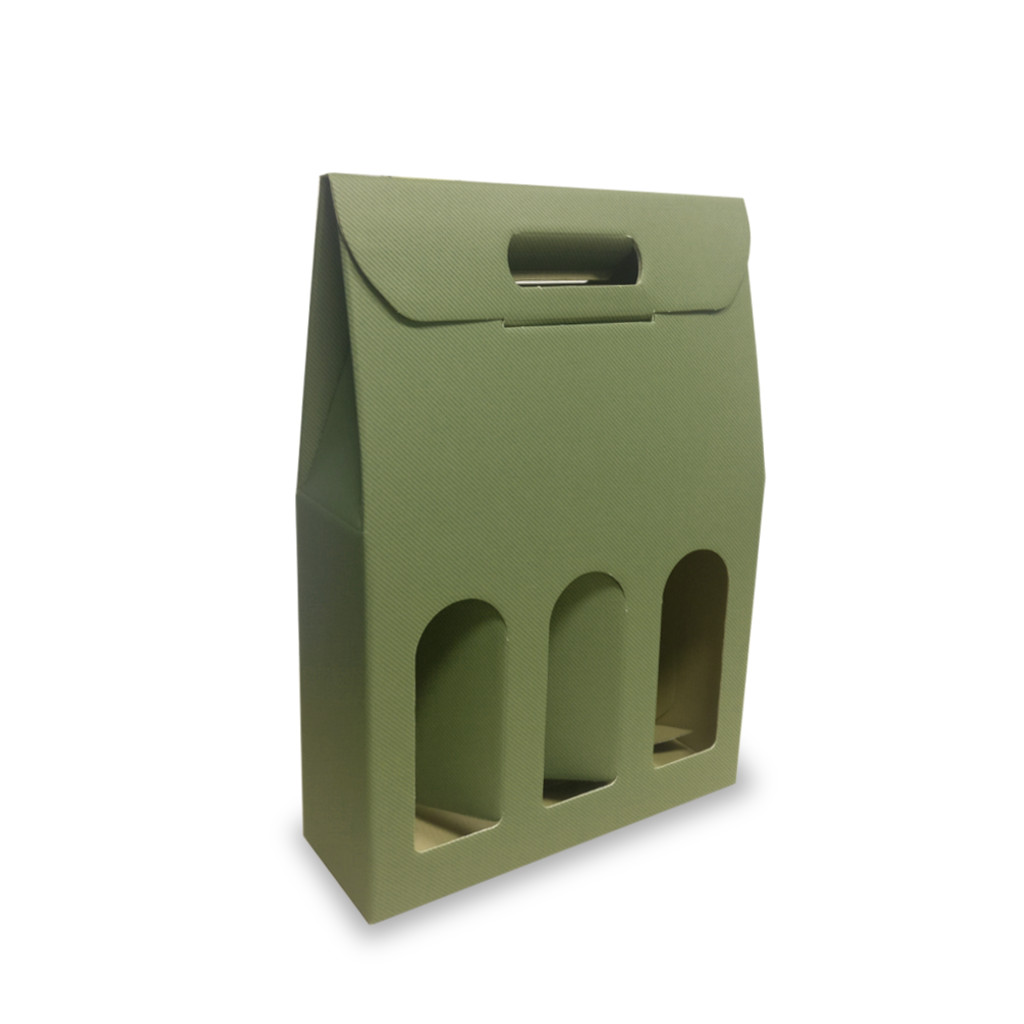 Portabottiglia-verde-3_scomparti-olivia-36262