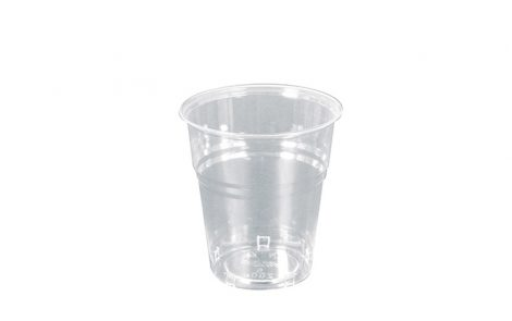 Bicchieri biodegradabili PLA trasparente 200 cc Rosati Carta