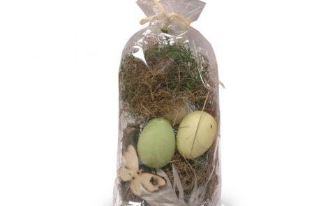Kit decoro pasqua decorazione bricolage fai da te uova e paglia Rosati Carta