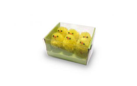 Pulcini piccoli di piume gialli decorativi Rosati Carta