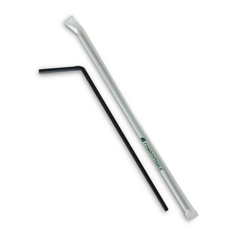 Cannucce-nere-PLA-21cm-imbustate-flessibili-CANFC245K.I.BION400